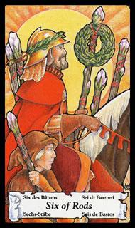Betekenis Tarotkaart Staven Zes