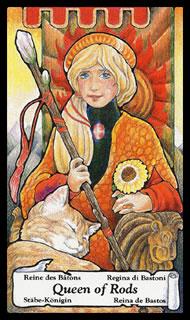 Betekenis Tarotkaart Staven Koningin
