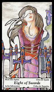 betekenis tarotkaart Zwaarden Acht