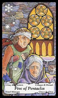 Betekenis Tarotkaart Pentakels Zes