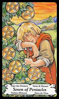 Betekenis Tarotkaart Pentakels Zeven