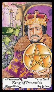 Tarotkaart Pentakels Koning