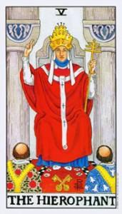 Tarotkaarten De Hogepriester