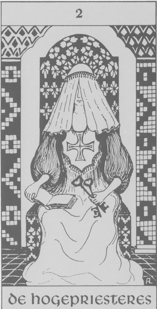 Hermetische tarot - de hogepriesteres - de tarot lezer gratis kaartleggen